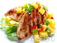 Рецепта Печени пилешки пържоли от гърди във фолио на скара с лимонова марината